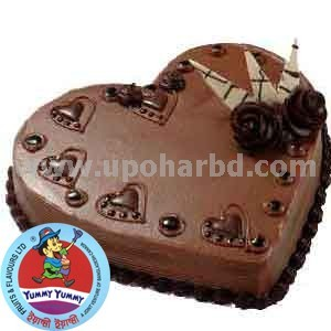 cake with lots of heart and rich chocolate