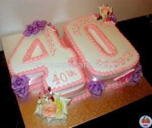 Duel number cake with pink design