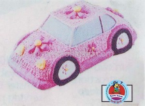Car shape cake for her