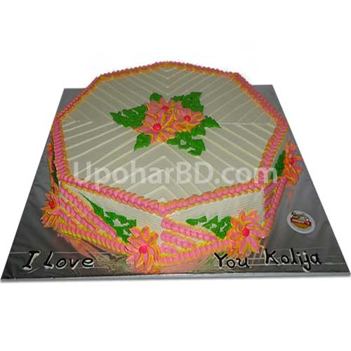 Colourful cake with Special Vanilla Flavour