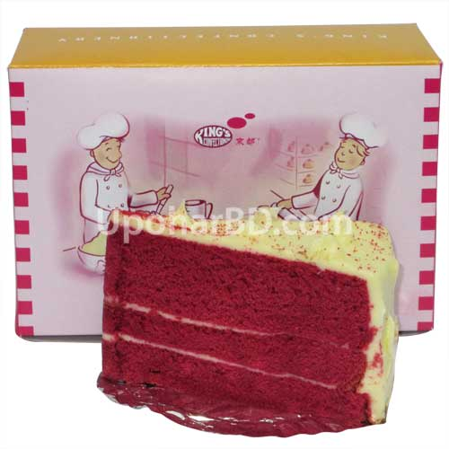 Red velvet pastry slice from Kings