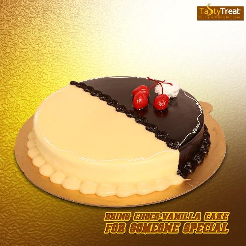 Choco-Vanilla cake from Tasty Treat