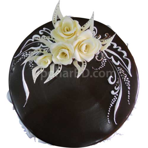 Dark Chocolate with White Flower