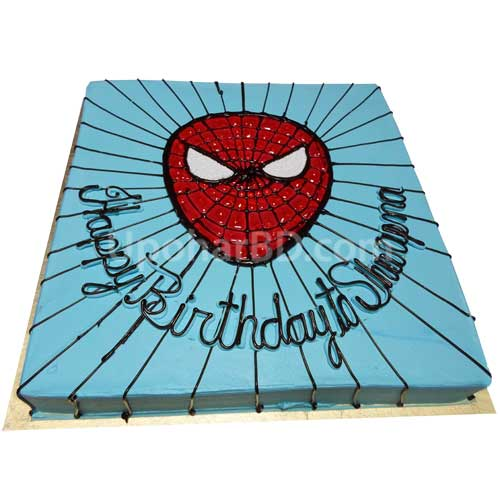 Spiderman Cake - Square