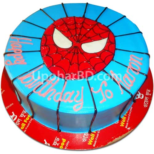 Spiderman cake from Well Food
