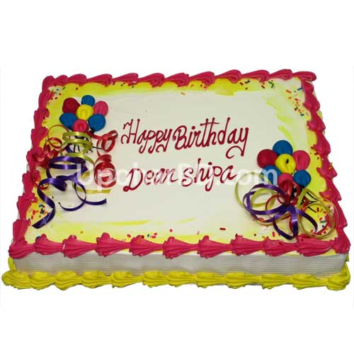 Cake with birthday balloons design