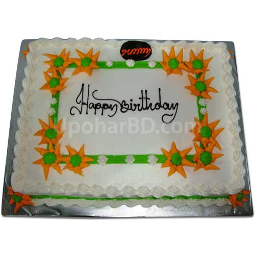 Cake with Sunflower design