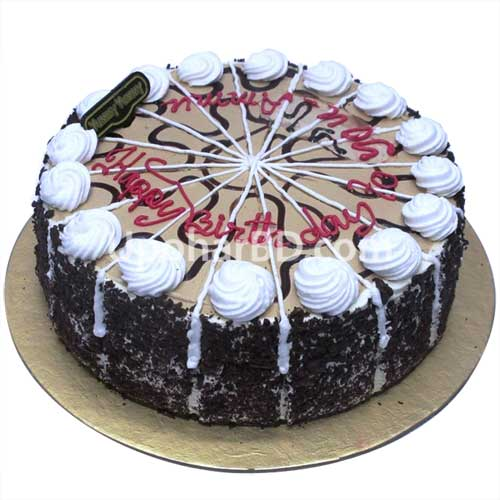 cake with lots of chocolate and cherry