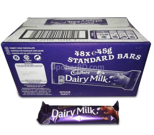 1 box of Cadbury Dairy Milk (48pc x 45gm)