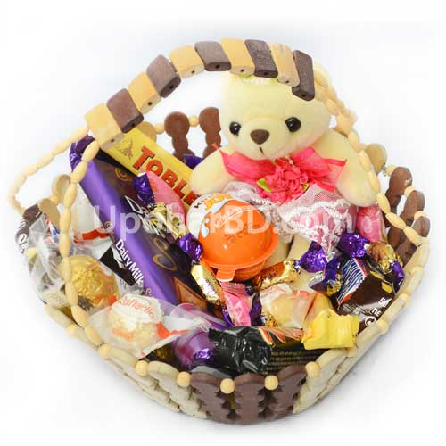 Chocolate package with mini teddy