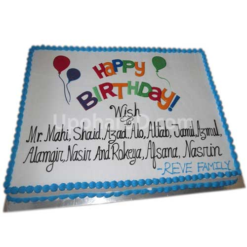 Corporate Celebration Cake from Well Food