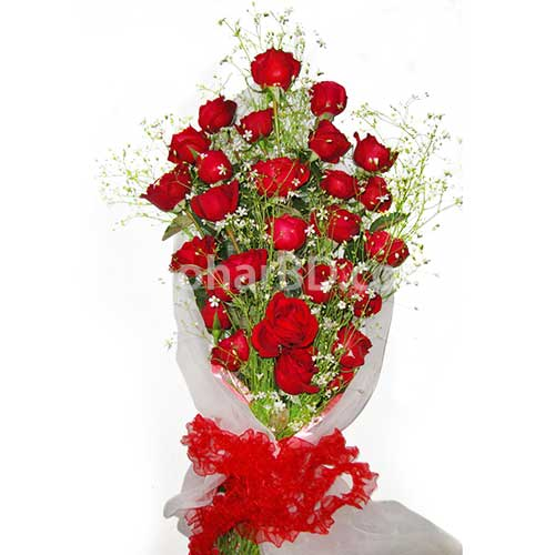 A Bunch of 35 Red Roses