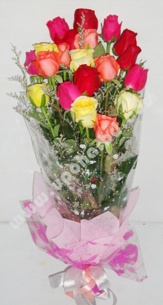 Gift and flower make your own rose bouquet fresh for Make your own flower arrangement