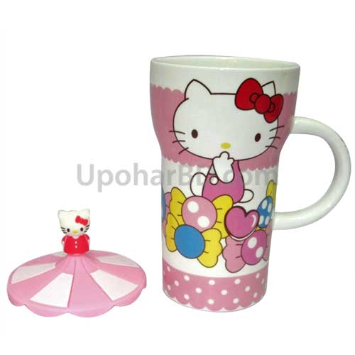 Hello Kitty coffee mug with lid