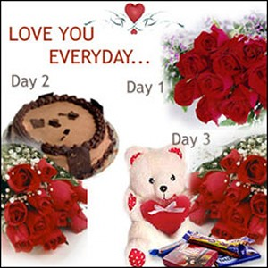 I Love You everyday with red roses