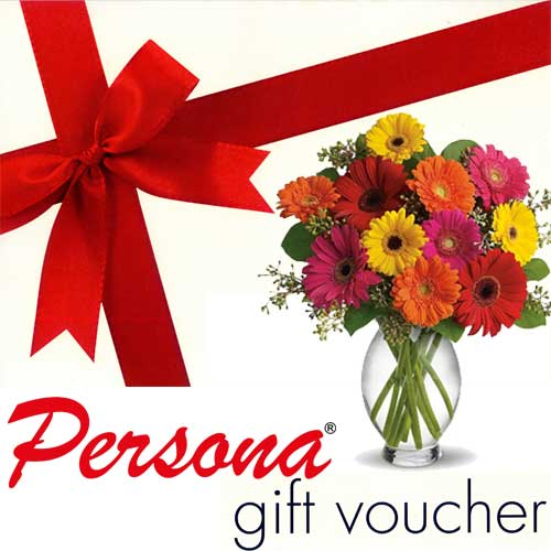 Persona hair and beauty care voucher with flowers