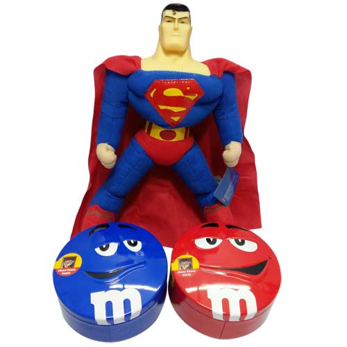 Superman with 2 M&M Boxes