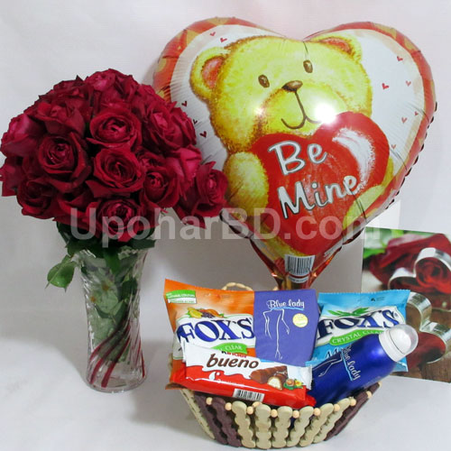 Roses and chocolate for your valentine