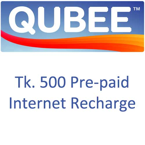 Qubee Pre-Pay 500tk recharge