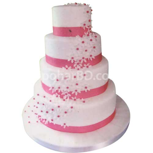 Pink - White Beauty cake