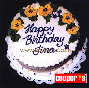 cake with yellow flower design