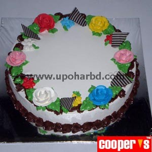 Cake with multicolor flowers