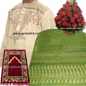 Aarong Panjabi and Dhakai Jamdani saree package