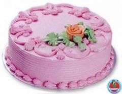 cake with pink finishing