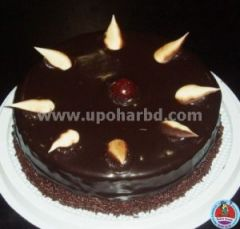 cake with rich chocolate and cherry