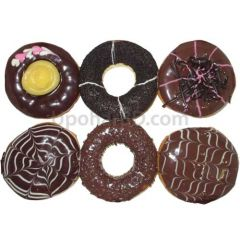 Glazed chocolate donuts 6 pac