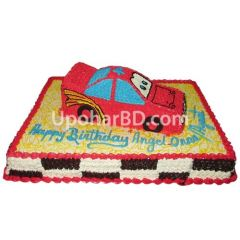 Car shape birthday cake for kids