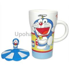 Doraemon coffee mug with lid