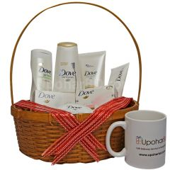 Branded mug with dove cosmetics