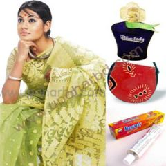 Gift Jamdani sharee and perfume package