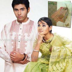 Aarong ND-Silk Panjabi and Jamdani Sari package