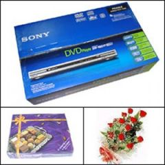 Package with DVD player