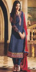 Nevy Blue Designer Exclusive Fancy Traditional suit by Zubeda collection