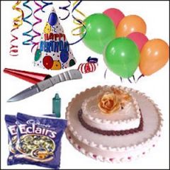 Kids party special with cake and all the accessories