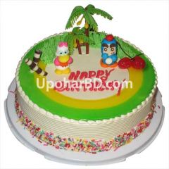 Vanilla Cartoon Candy Cake