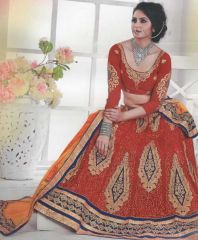 Hot star red lehenga with embroidery