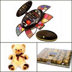 Makeup kit with chocolate and teddy