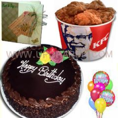 KFC and chocolate cake combo