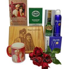 Anniversary Gift Package with Perfume and Photo