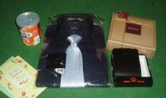Gift package for him with shirt and the lot
