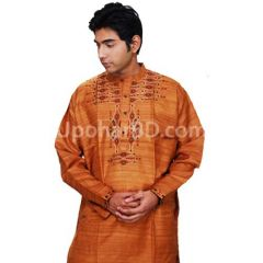Brick colour ND silk panjabi