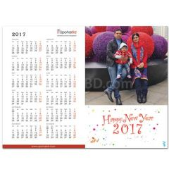 Calendar photo greetings card