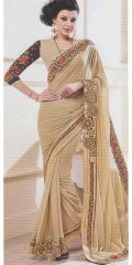 Peru chifon satin saree by Kalista Fashions