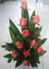 Pink rose arrangement