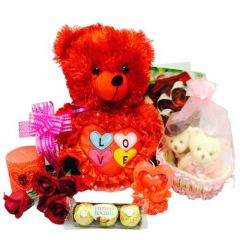 Package with pair of cute teddy