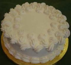 White forest cake with design
